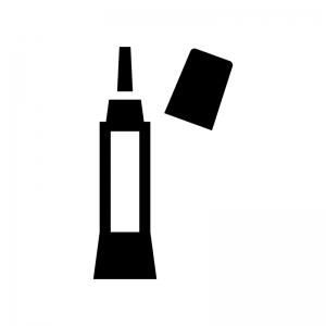 ボンド・接着剤の白黒シルエットイラスト02