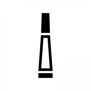 ボンド・接着剤の白黒シルエットイラスト03