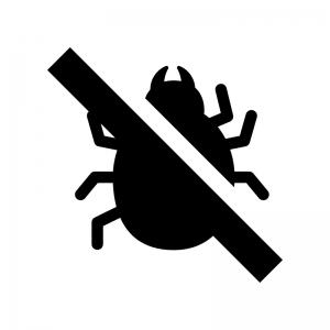 防虫・防ダニの白黒シルエットイラスト