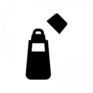 のり・文房具の白黒シルエットイラスト