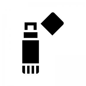 スティックのり・文房具の白黒シルエットイラスト