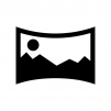 カメラのパノラマ撮影の白黒シルエットイラスト02