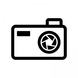 カメラの絞りの白黒シルエットイラスト02