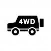 車・4WDの白黒シルエットイラスト