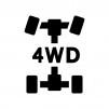 車・4WDの白黒シルエットイラスト02