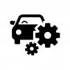 車の整備・メンテナンスの白黒シルエットイラスト02