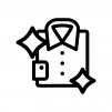 クリーニングしてピカピカの白黒シルエットイラスト02