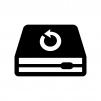 バックアップ・リカバリーの白黒シルエットイラスト02
