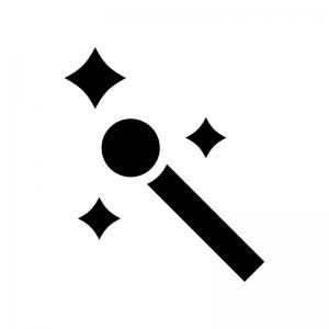 エフェクト機能の白黒シルエットイラスト
