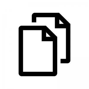 ファイル・書類のコピーの白黒シルエットイラスト