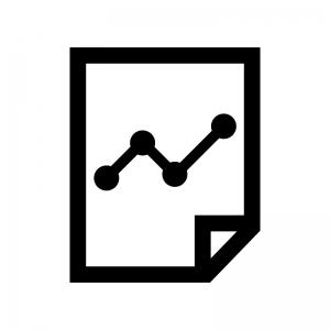 グラフレポートの白黒シルエットイラスト02
