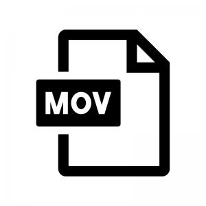 MOVファイルの白黒シルエットイラスト