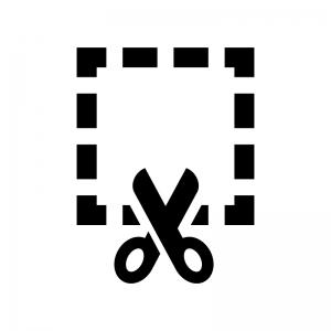 ファイル・書類の切り取りの白黒シルエットイラスト