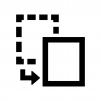 ファイル・書類の切り取りの白黒シルエットイラスト02