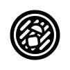 麺類の白黒シルエットイラスト02