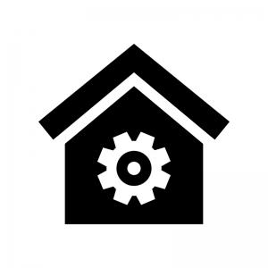 住宅メンテナンスの白黒シルエットイラスト02