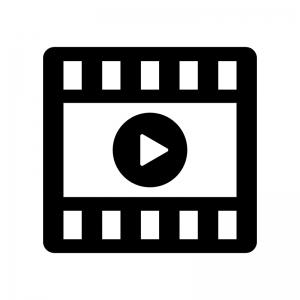 動画の白黒シルエットイラスト02