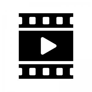 動画の白黒シルエットイラスト03