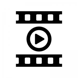動画の白黒シルエットイラスト04