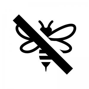 蜂の駆除の白黒シルエットイラスト