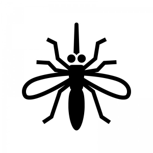 蚊の白黒シルエットイラスト