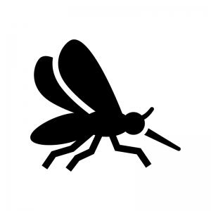 蚊の白黒シルエットイラスト02