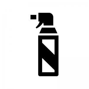 殺虫剤の白黒シルエットイラスト