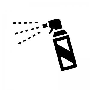 殺虫剤の白黒シルエットイラスト02