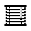 ブラインドの白黒シルエットイラスト02