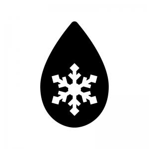 解凍の白黒シルエットイラスト