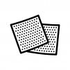 紙ヤスリの白黒シルエットイラスト