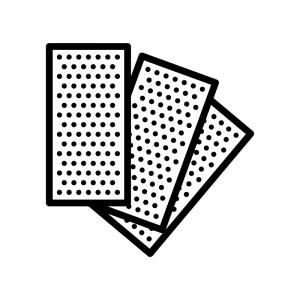 紙ヤスリの白黒シルエットイラスト02