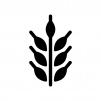 小麦の白黒シルエットイラスト