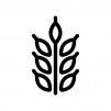 小麦の白黒シルエットイラスト02