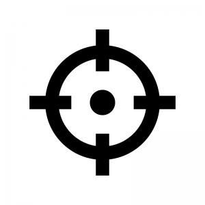 現在地マークの白黒シルエットイラスト03