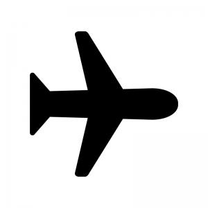 機内モードの白黒シルエットイラスト