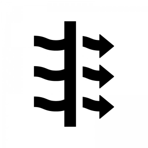 通気性の白黒シルエットイラスト02