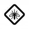 蚊に注意の白黒シルエットイラスト
