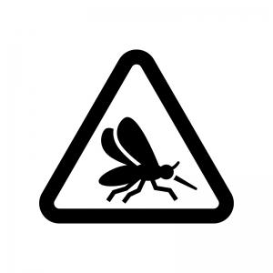 蚊に注意の白黒シルエットイラスト02