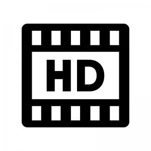 HD動画の白黒シルエットイラスト