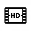 HD動画の白黒シルエットイラスト02