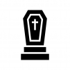 墓地の白黒シルエットイラスト02