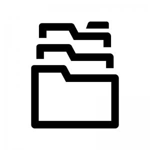 アーカイブフォルダの白黒シルエットイラスト02
