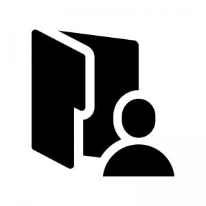 ユーザーフォルダの白黒シルエットイラスト02
