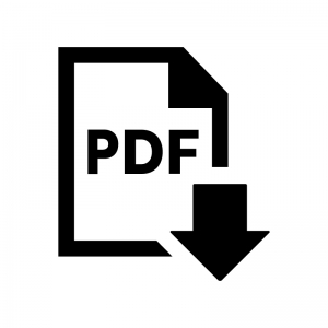 PDFファイルをダウンロードの白黒シルエットイラスト