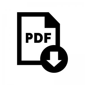 PDFファイルをダウンロードの白黒シルエットイラスト02