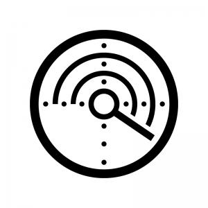レーダーの白黒シルエットイラスト02