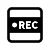 録音・レコーディングの白黒シルエットイラスト