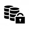 暗号化データの白黒シルエットイラスト