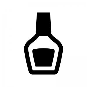 ボンド・接着剤の白黒シルエットイラスト
